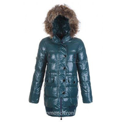 Moncler Loire Women Down Coats Hooded With Zipper In Green http://www.