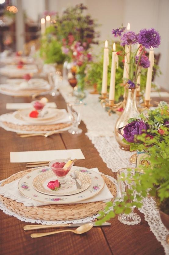 002 rustic table setting