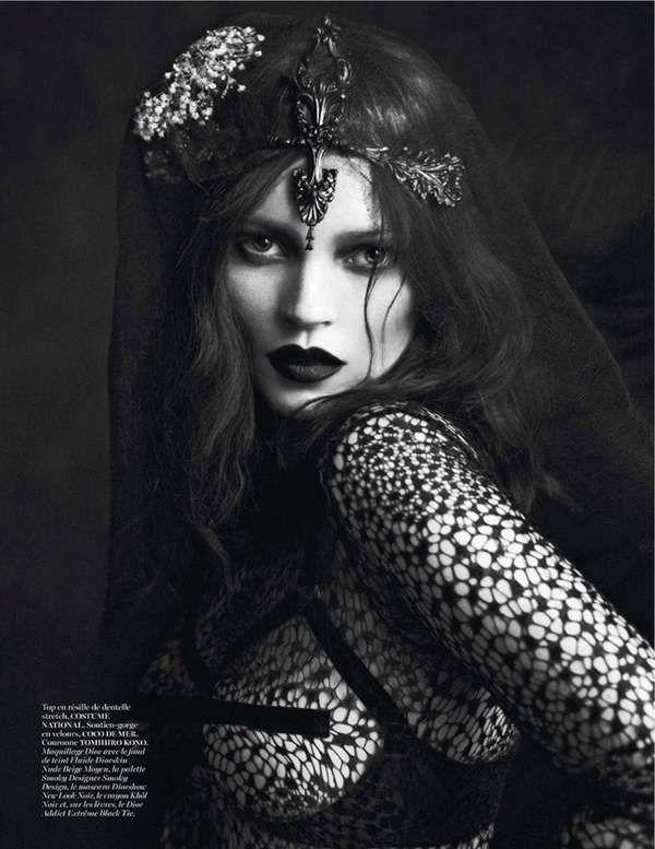 Gothic Monarch Captures - Le Noir Partie 3 by Mert & Marcus for Vogue Paris is Dark (GALLERY)
