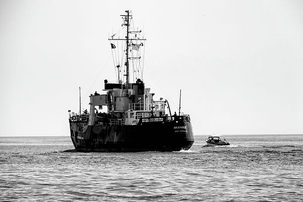 The United States Coast Guard Cutter Bramble played the character White Portuguese in the movie Batman vs Superman Dawn of Justice. It is a museum that can be toured in Port Huron MI. This picture can be purchased in various sizes and prices at randy-heath.pixels.com