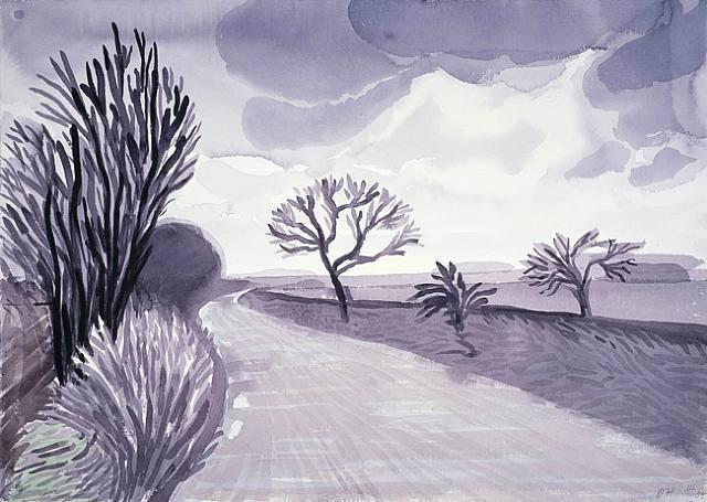 Painting by David Hockney #art @deFharo