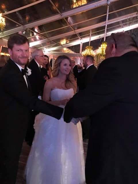 Dale Earnhardt, Jr. and wife Amy Earnhardt.  1/1/2017