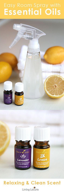 Homemade Lemon & Lavender Linen Spray aux jeunes vivant huiles essentielles. Facile maison Lemon & Lavender Linen Spray aux Huiles Essentielles. Faites vos draps, serviettes et la maison fraîche odeur avec une recette pour assainisseur d'air organique. LivingLocurto.com