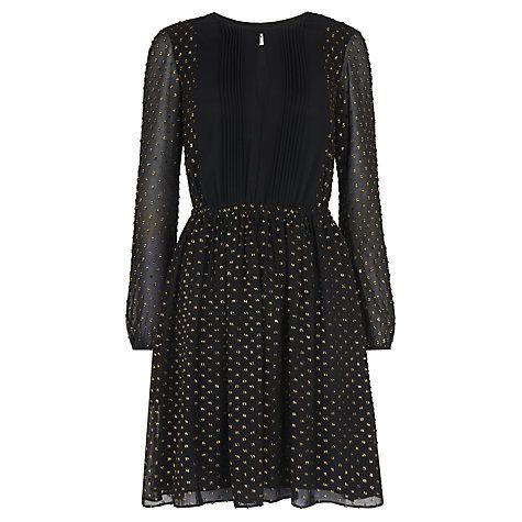 Buy Whistles Eva Fleck Dress, Multi/Gold Online at johnlewis.com