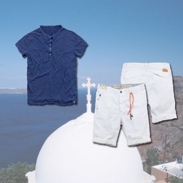 www.40weft.com #holidaylook #40weft #SS2014 #golook #greece #whiteandblue #bermudapants #t-shirt #menfashion #picsoftheday #repin