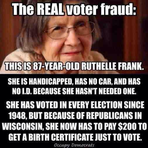 Voter ID laws don't prevent voter fraud (there have been 31 cases out of a billion votes cast in the last decade) they just make it harder for students, poor people, disabled people and elderly people to cast their ballots. And that's _exactly_ the intent. Don't believe the hype.