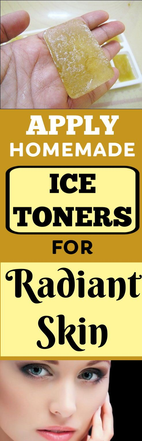 Apply home made ice toners for radiant skin