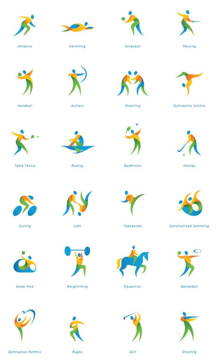 (픽토그램)2016 리우올림픽 픽토그램 : 네이버 블로그
