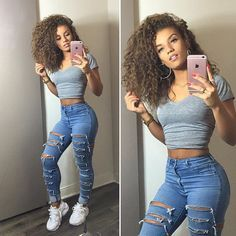 baddie outfits for school - Google Search