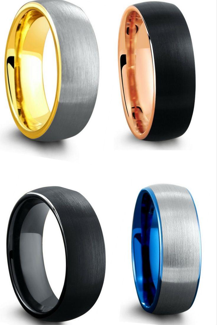 vitalium+vs+tungsten vitalium wedding band Vitalium vs tungsten Mens Tungsten Wedding Band With Multi Interiors Such As Rose Gold And