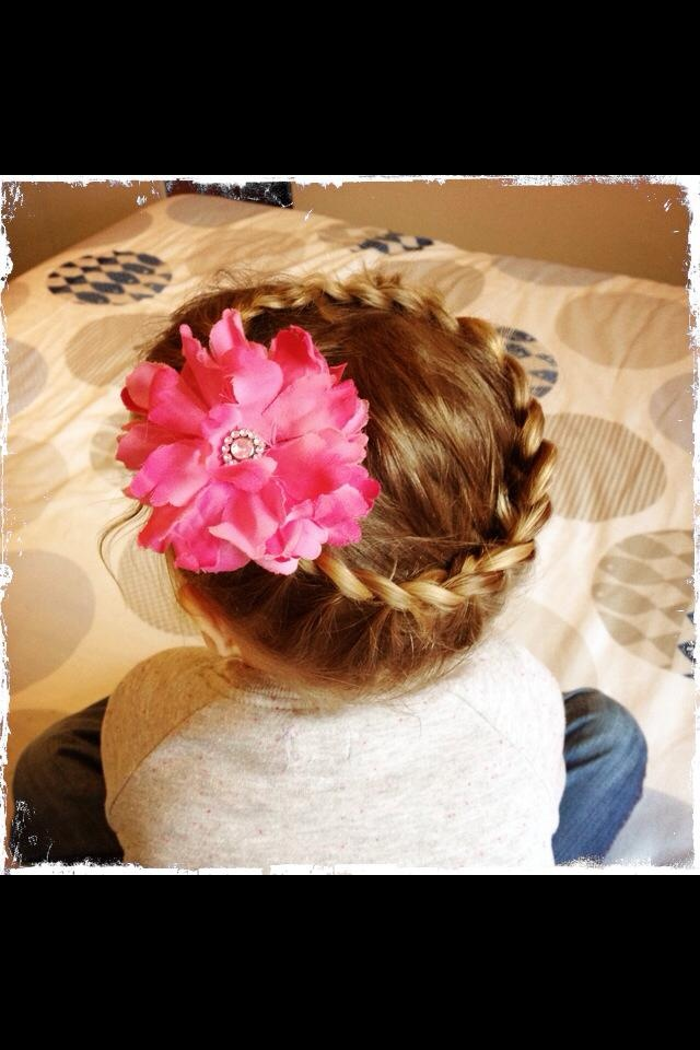 'Crown' French braid done on my daughter