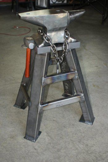 """Anvil stand for 100lb anvil. Made from 2x3"""" & 1x3"""" tubing and 1"""" plate.:"""