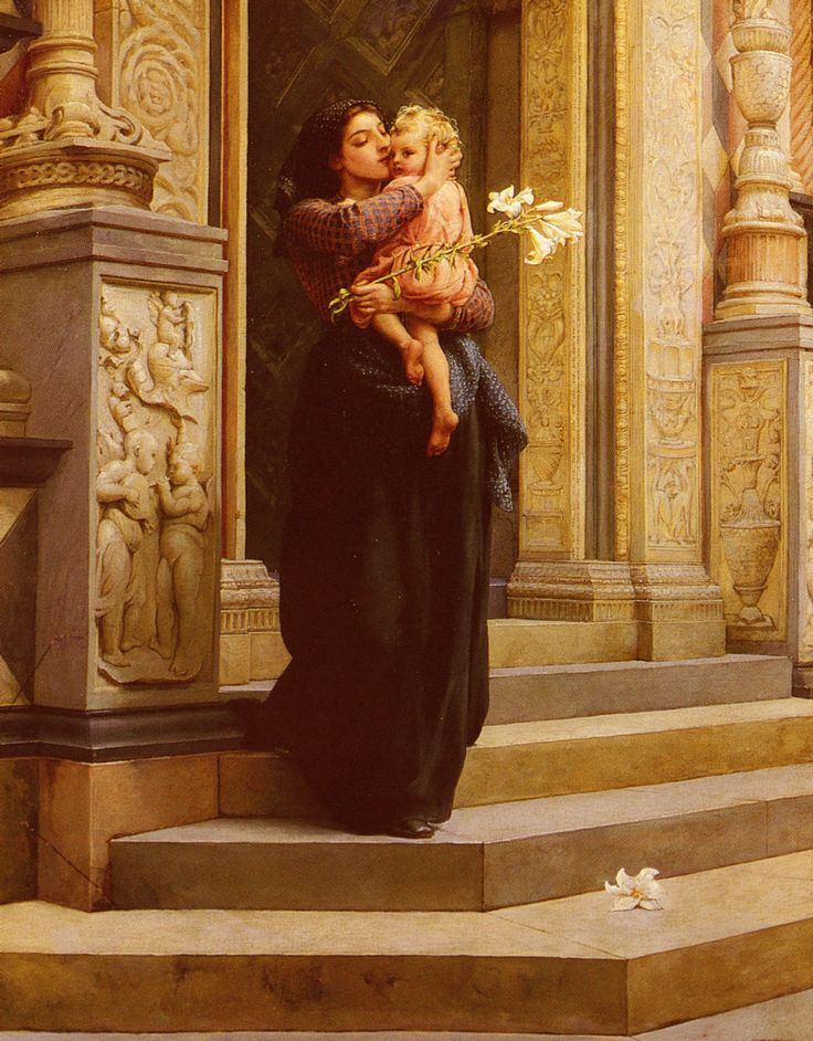 Frank William Warwick Topham, The Lily fine art/ moms in