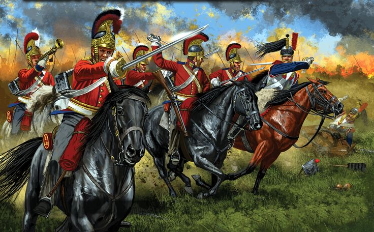 British household cavalry at Waterloo- by Johnny Shumate