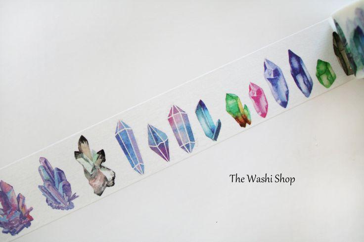 Gemstone Washi Tape(30mm x 5m) by TheWashiShop on Etsy