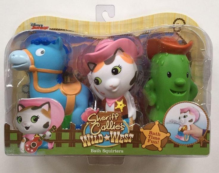 Disney Sheriff Callie Bath Squirters Toys Sparky Toby Wild West Play New #Disney