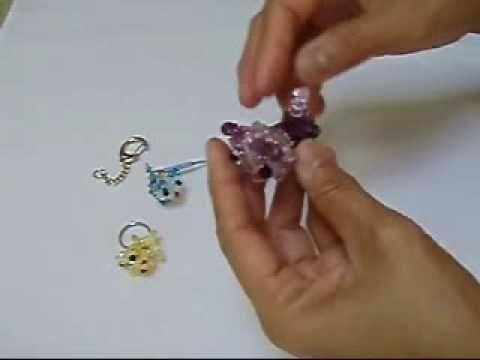 Crystal Cat Swarovski crystal bead weaving