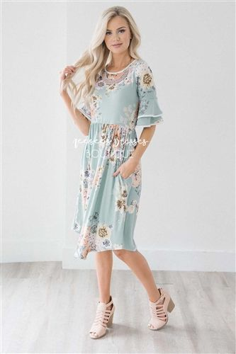 6c762f8d8 Pin by Shayne Fillmore on Clothing and Where to buy | Modest dresses,  Dresses, Ruffle sleeve