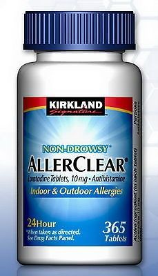 awesome New AllerClear Non-Drowsy Allergy Loratadine 10mg 365 Tablets Kirkland Medicine - For Sale View more at http://shipperscentral.com/wp/product/new-allerclear-non-drowsy-allergy-loratadine-10mg-365-tablets-kirkland-medicine-for-sale/