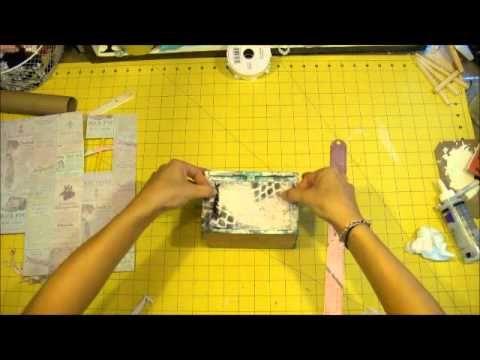 shabby altered  boxes | Altered Cigar Box Start to Finish Mixed Media/ Shabby Chic - YouTube