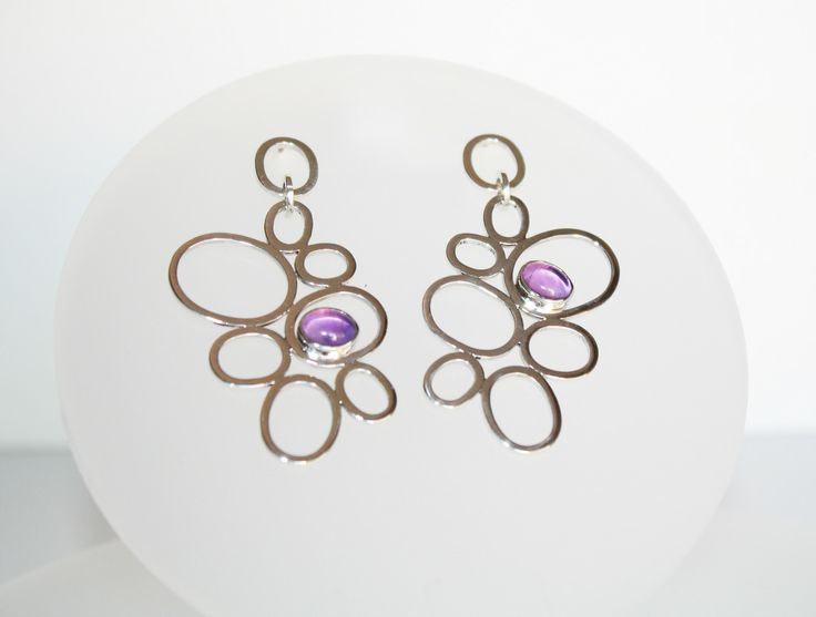 Amethyst Radiant Orchid Earrings