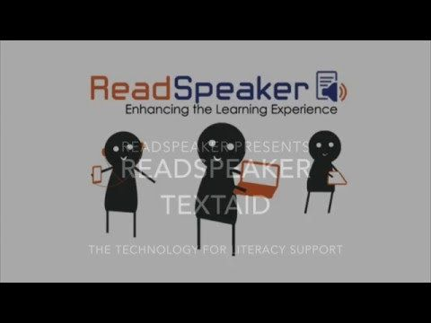 ReadSpeaker TextAid voor educatief gebruik   ReadSpeaker