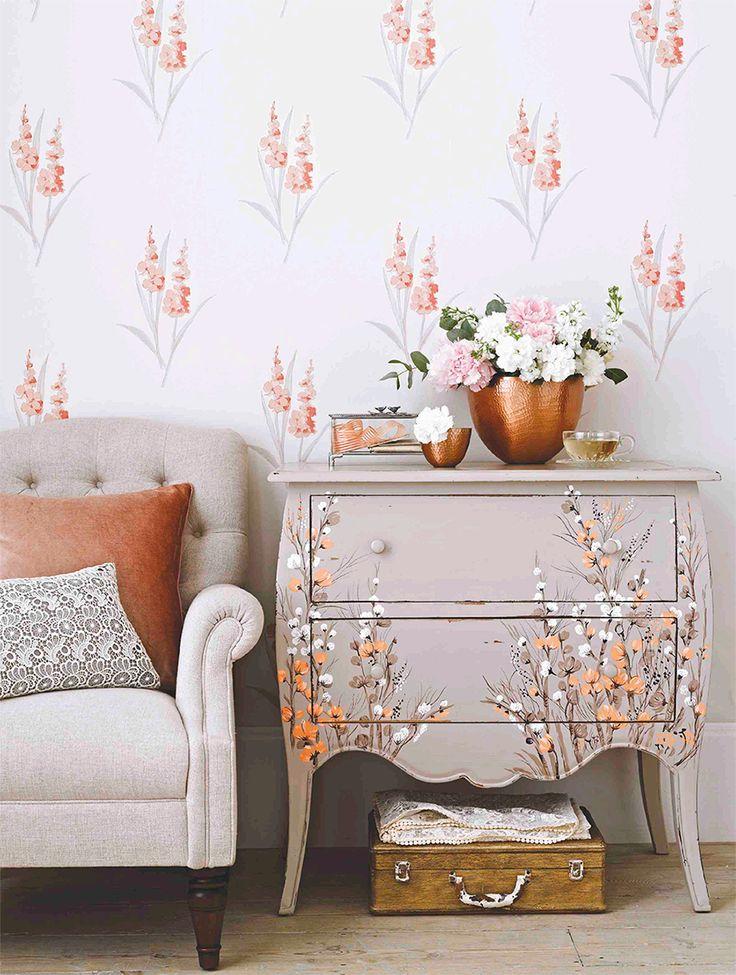 #decorromântica Uma decoração mais feminina, com um frescor bucólico e um clima de acolhimento. Destaca estampas florais, cores em tons pastel e suaves. #diadodecorador
