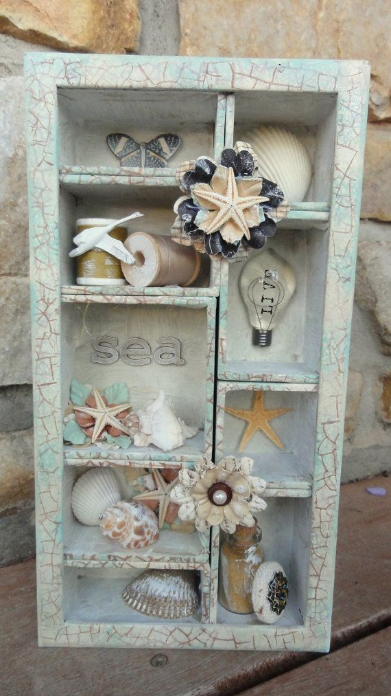 altered Tim Holtz boxes | Altered Tim Holtz Shadow Box Beach Themed by ScrapbooksByAdrienne