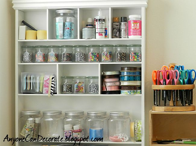 Cute Storage Ideas For The Craft Room Jars Storage Bins