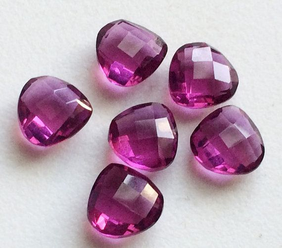 6 Pcs Pink Colored Quartz Faceted Pink Hydro by gemsforjewels