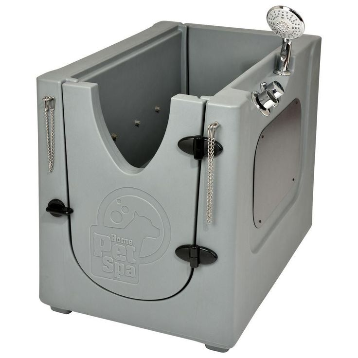 Home Pet Spa 35 in. x 24.7 in. Pet Shower and Grooming Enclosure with Removable Shelf and Wheels