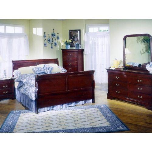 Louis Philippe 5 Piece Queen Bedroom Suite