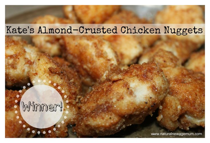 Kate's Almond Crusted Chicken Nuggets - Grain Free, Gluten Free, Dairy Free