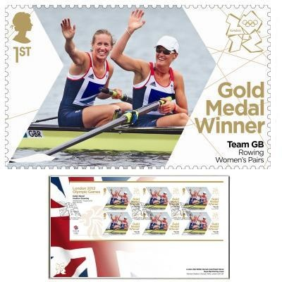 Large image of the Team GB Gold Medal Winner First Day Cover - Helen Glover & Heather Stanning