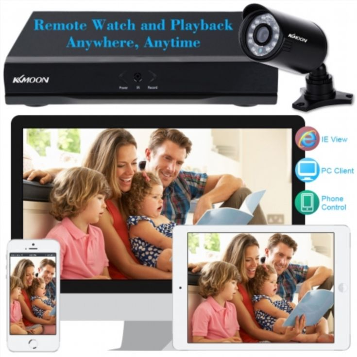 KKmoon 8CH Channel Full 960H/D1 800TVL CCTV Surveillance DVR Security System HD P2P Cloud Onvif Network Digital Video Recorder + 8* Outdoor/Indoor Infrared Bullet Camera + 8*60ft Cable support IR-CUT Night Vision Weatherproof Plug and Play Android/iOS APP Free CMS Browser View Motion Detection Email Alarm PTZ Control