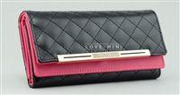 Pink & black leather wallet from lovemisseve.com