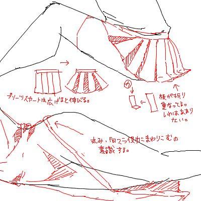 Quand on est assis ou allongé, nos vêtements suivent les courbes de notre corps et ne sont pas tjrs faciles à dessiner : voici quelques astuces