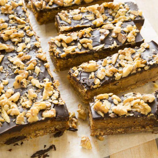 Caramel Coffee Walnut Slice by Nadia Lim | NadiaLim.com