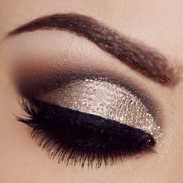 Smokey glitter eye.