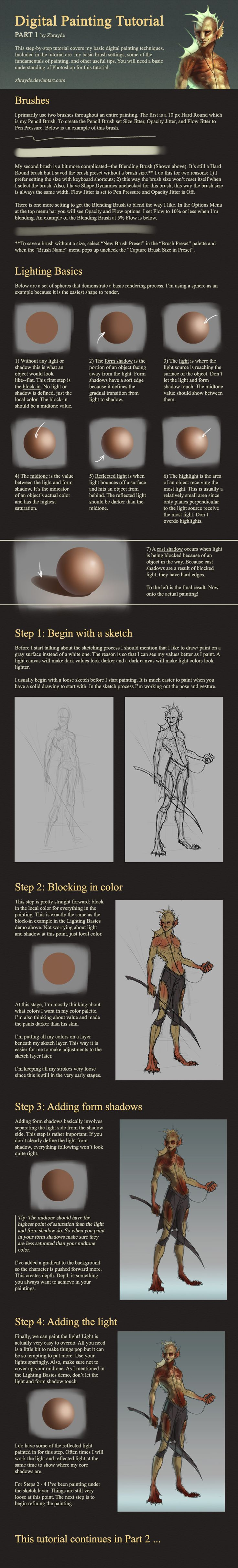 Digital Painting Tutorial - Part 1 by Zhrayde.deviantart.com on @deviantART