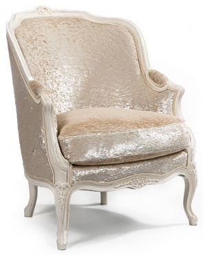 Look at this Elegant Pearl Velvet Chair! I could be sitting in this chair having my morning French Press Coffee & Cream in the mornings! :)