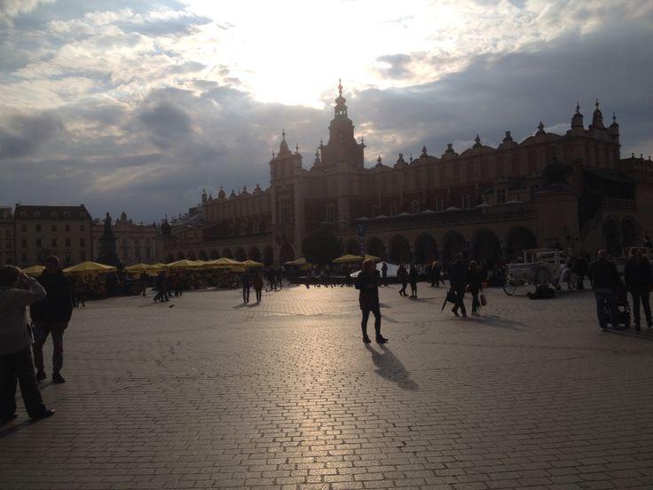 Market Square Krakow after rain
