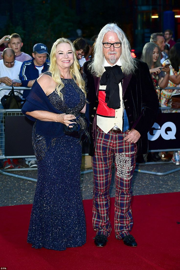 The legend arrives: Legendary comedian Billy Connolly made an early arrival at the ceremony, accompanied by his second wife Pamela Stephenson
