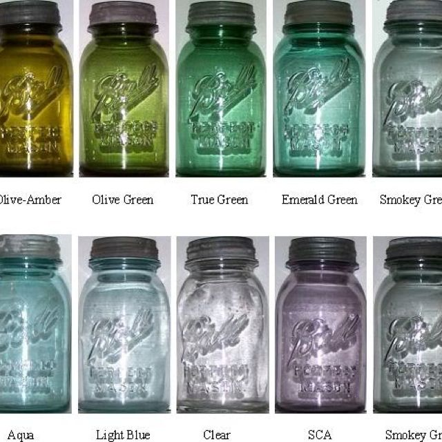ball mason jar colors - lots of information if you click on the photo for the link.