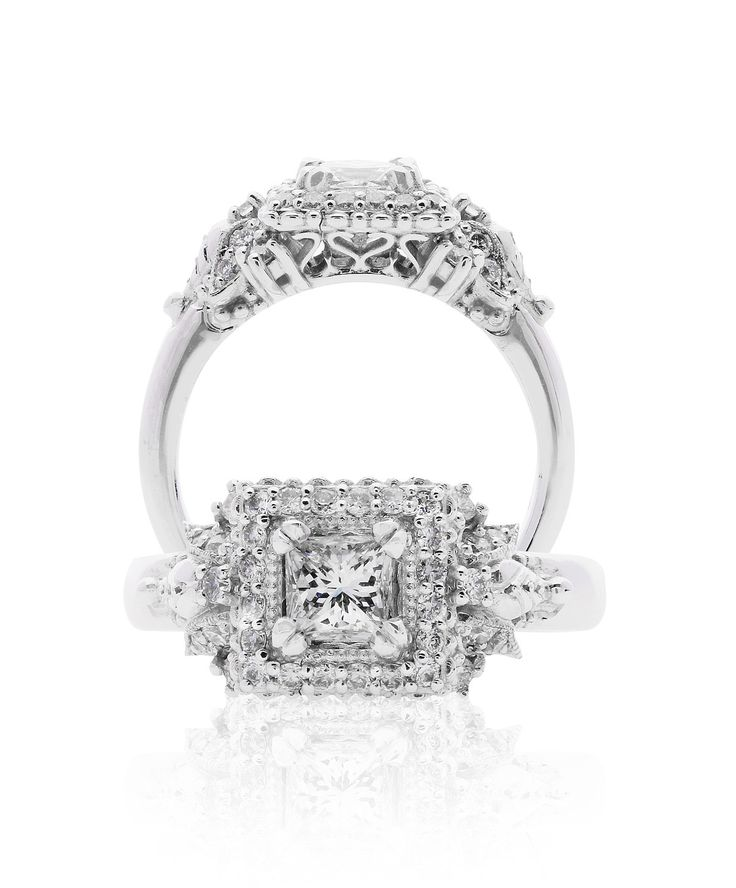 Alyssa Engagement Ring, absolutely amazing, vintage inspired 18ct white gold and diamonds – Jenna Clifford
