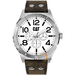 CATERPILLAR Camden Multifunction Brown Leather Strap