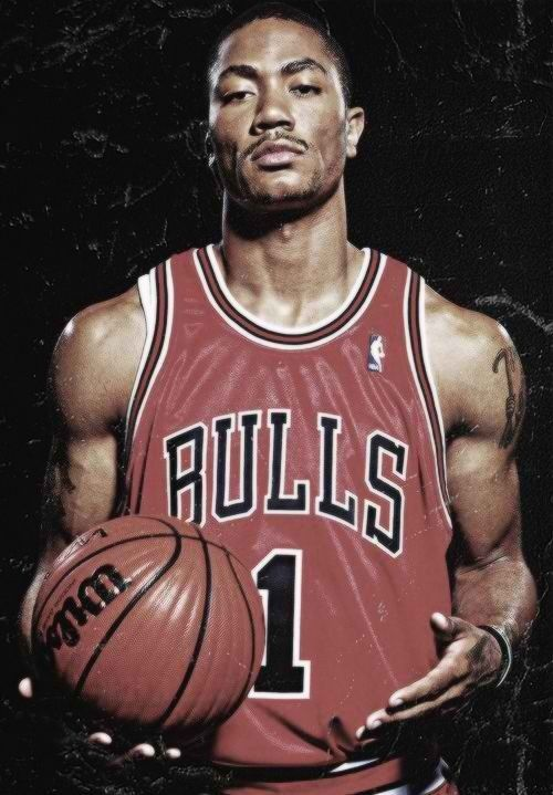 Derrick Rose.. Chicago Bulls point guard. His humility and hardwork are what make him one of my favorite athletes.
