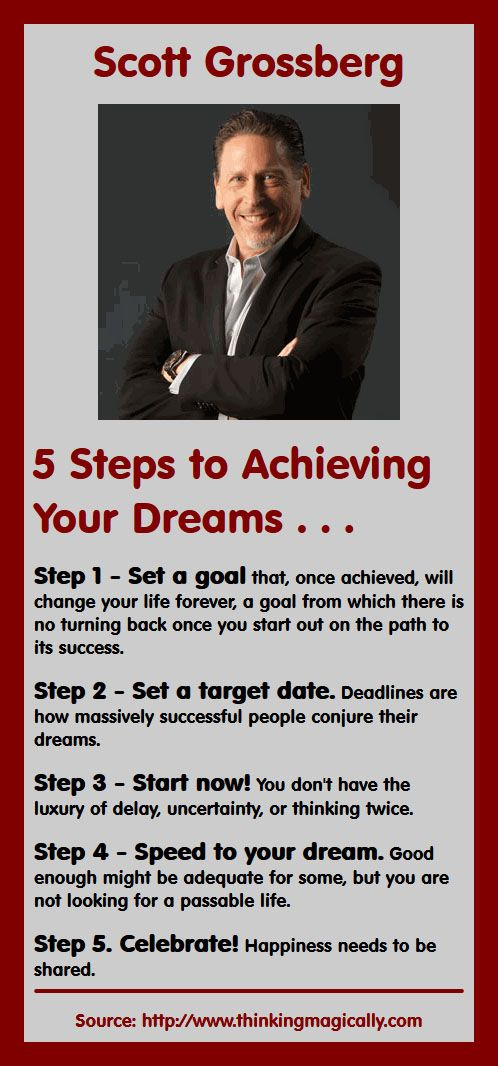 Scott Grossberg: 5 Steps to Achieving Your Dreams