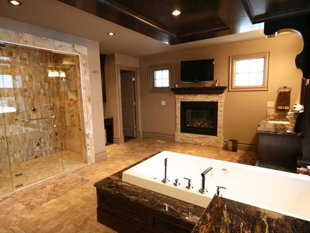 Awesome bathroom! I'm imagining a vanity area on the other side of the bathtub.
