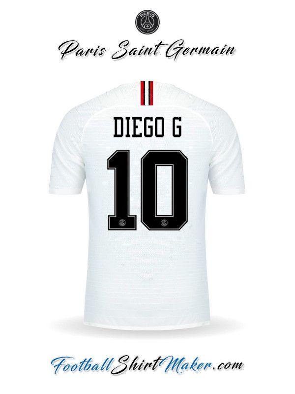 b3805878e22 Crear Camiseta de Paris Saint Germain 2018/19 Jordan con tu Nombre ...